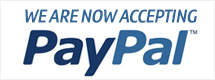 We are now accepting PayPal