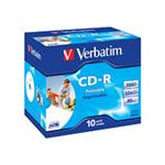 Verbatim CD-R 700MB 80Min 48x Printable - 10 Pack