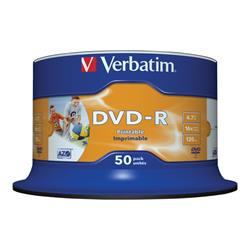 Verbatim DVD-R 16x 50pack Printable