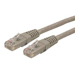 StarTech.com 50 ft Cat 6 Gray Molded RJ45 UTP Gigabit Cat6 Patch Cable