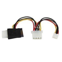 StarTech.com LP4 to SATA Power Cable Adapter with Floppy Power