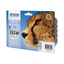 Epson T0715 Multipack - Print cartridge - 1 x black, yellow, cyan, magenta
