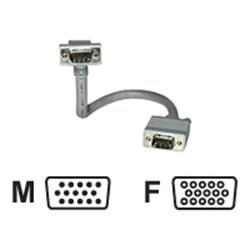C2G 5m Premium Shielded HD15 SXGA M/F Monitor Extension Cable with 90° Down Angled Male Connector
