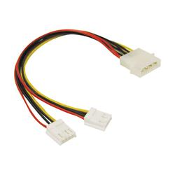 C2G 25cm One 5-1/4in to Two 3-1/2in Internal Power Y-Cable