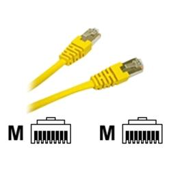 C2G 30m Shielded Cat5E Moulded Patch Cable - Yellow