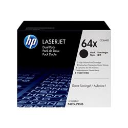 HP 64X 2-pack High Yield Black Original LaserJet Toner Cartridges