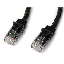 StarTech.com 50 ft Black Gigabit Snagless RJ45 UTP Cat6 Patch Cable