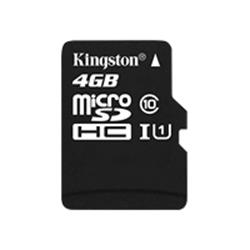 Kingston microSD 4GB Class 10 Memory Card - Adaptor not included