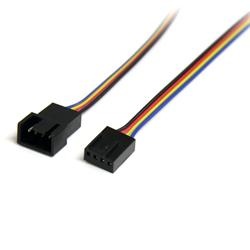 StarTech.com 12in 4 Pin Fan Power Extension Cable - M/F