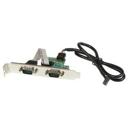 StarTech.com 24in Internal USB Motherboard Header to 2 Port Serial RS232 Adapter