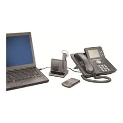 Plantronics Savi 740 Wireless DECT Headset - Triple Connectivity (Deskphone, Mobile/Bluetooth & PC)