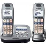 Panasonic KX-TG6592EM Twin Pack Big Button DECT Phone w 40 minute TAM