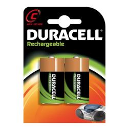 Duracell Rechargeable HR14 2200 mAh C Batteries - 2-Pack