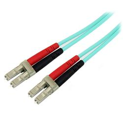 StarTech.com 2m 10 Gb Aqua Multimode 50/125 Duplex LSZH Fiber Patch Cable LC - LC