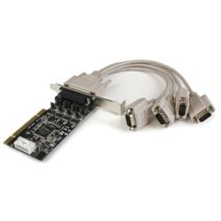 StarTech.com 4 Port RS232 PCI Serial Card Adapter with Power Output