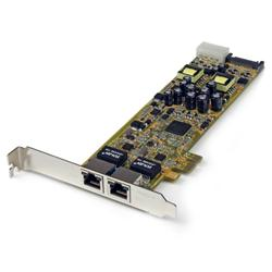 StarTech.com Dual Port PCI Express Gigabit Ethernet PCIe Network Card Adapter - PoE/PSE