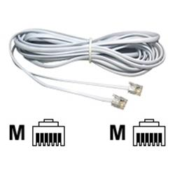 Cables Direct 2m White RJ11 - RJ11 ADSL Modem Cable B/Q 250