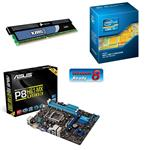 Asus Intel Premium Bundle (Includes P8H61-MX/USB3, Intel Core i3-3220 & 4GB Corsair XMS3 Memory)