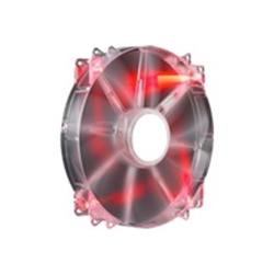 CoolerMaster MegaFlow 200 Red LED Fan - 200mm, 700RPM