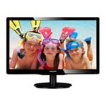 "Philips 196V4LAB2 18.5"" 1366x768 5ms VGA DVI-D Black Monitor with Speakers"