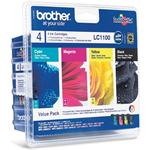 Brother LC1100 Value Pack - Print cartridge - 1 x black, yellow, cyan, magenta