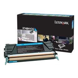 Lexmark X748 Cyan High Yield Return Program Toner