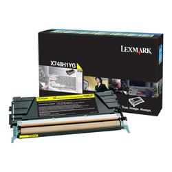 Lexmark X748 Yellow High Yield Return Program Toner