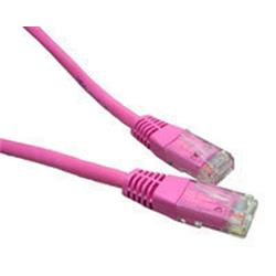 Cables Direct Generic Category 5e Twisted Pair, connectors RJ45-RJ45 Pink 2m