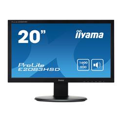 "iiyama ProLite E2083HSD-1 19.5"" 1600x900 5ms VGA DVI-D LED LCD Black Monitor with Speakers"
