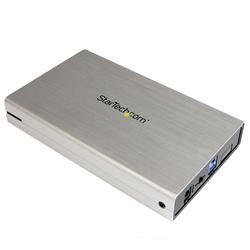 StarTech.com 3.5in Silver USB 3.0 External SATA III Hard Drive Enclosure with UASP