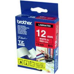 Brother Tape White on Red 12mm