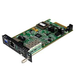 StarTech.com Gigabit Ethernet Fiber Media Converter Card Module with Open SFP Slot