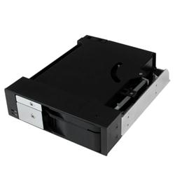 "StarTech.com Dual Bay 5.25"" Trayless Hot Swap Mobile Rack for SATA HDD/SSD"