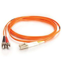 C2G 20m LC-ST 50/125 OM2 Duplex Multimode PVC Fibre Optic Cable (LSZH) - Orange