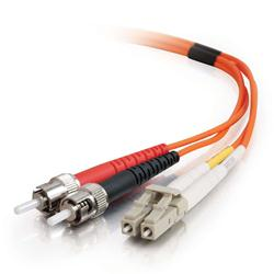 C2G 7m LC-ST 50/125 OM2 Duplex Multimode PVC Fibre Optic Cable (LSZH) - Orange
