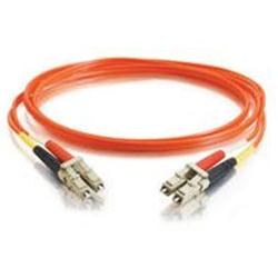 C2G 30m LC-LC 50/125 OM2 Duplex Multimode PVC Fibre Optic Cable (LSZH) - Orange