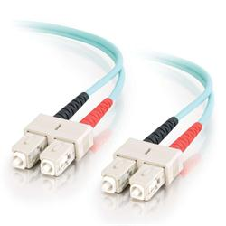 C2G 2m SC-SC 10Gb 50/125 OM3 Duplex Multimode PVC Fibre Optic Cable (LSZH) - Aqua
