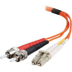 C2G 3m ST-ST 50/125 OM2 Duplex Multimode PVC Fibre Optic Cable (LSZH) - Orange