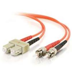 C2G 30m ST-ST 50/125 OM2 Duplex Multimode PVC Fibre Optic Cable (LSZH) - Orange