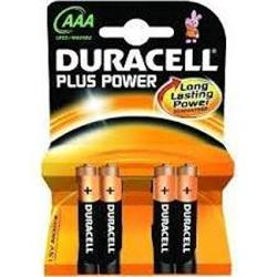 Duracell Plus Power AAA Alkaline 4 Pack