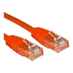 Cables Direct 0.25m CAT 6 UTP PVC Injected Moulded Cable Orange - B/Q 500