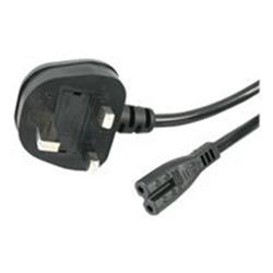 StarTech.com 1m Laptop Power Cord 2 Slot for UK - BS-1363 to C7 Power Cable Lead