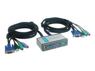 D-Link Mini KVM Switch Kit With USB Port for 2 PCs