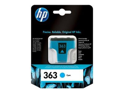 HP 363 Cyan Original Ink Cartridge