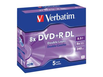 Verbatim DVD+R 8.5GB 8x DL 5 Pack