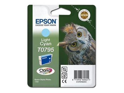 Epson C13T079540A0 Light Cyan Ink for Photo 1400