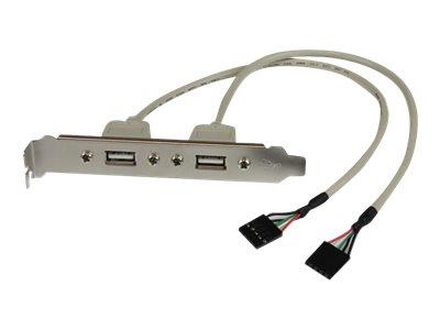 StarTech.com 2 Port USB A Female Slot Plate Adapter