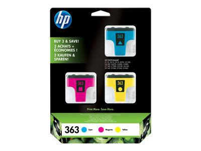 HP 363 3-pack Cyan/Magenta/Yellow Original Ink Cartridges