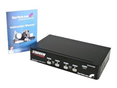 StarTech.com 4 Port Professional VGA USB KVM Switch with Hub