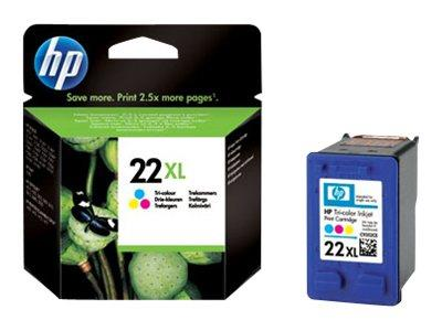 HP 22XL High Yield Tri-colour Original Ink Cartridge